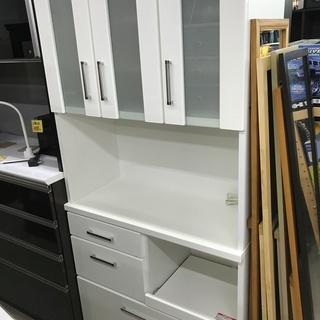 キッチンボード 食器棚 白 レンジ台