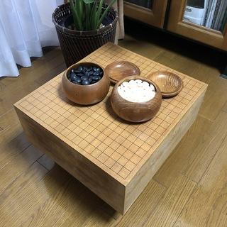 囲碁盤と碁石セット