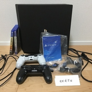 PS4pro 1TB 本体 コントローラ2個 ソフト2本セット