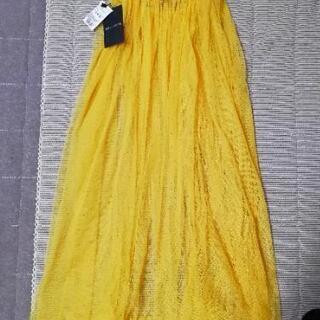 新品未使用タグ付き GALLERIE チュールスカート ロング 黄色