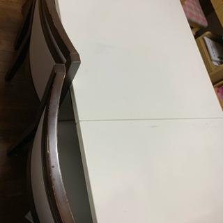 食卓テーブル 白 セット
