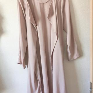 美品♡ピンクキレイめ薄手コート