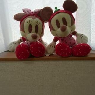 ミッキー&ミニーマウス ぬいぐるみ