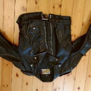 (値下げ)ライダースジャケット ショット サイズ40 内ポケット...