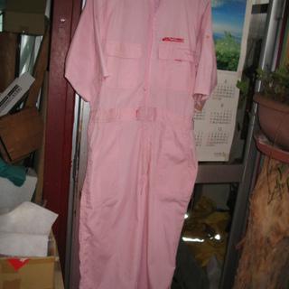 ツナギ 半袖 ピンク L 薄手 女性にも似合うと思う。私のデザイ...