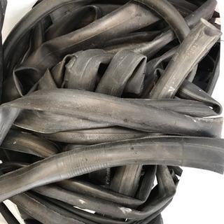 引き取り限定 穴空き自転車チューブ 大量 無料