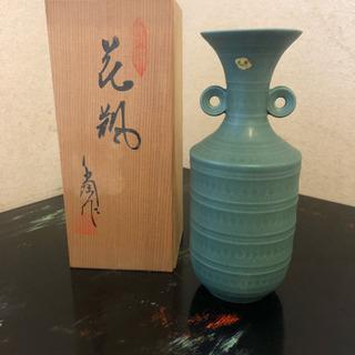お値下げ →【青緑】花瓶 新品