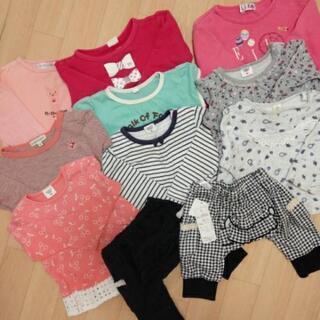女の子服80センチ 10月14日まで 1着100円、200円、300円