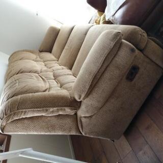 三人掛けソファー リクライニング機能付き