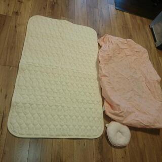 ベビーマット&カバー&枕 3点セット