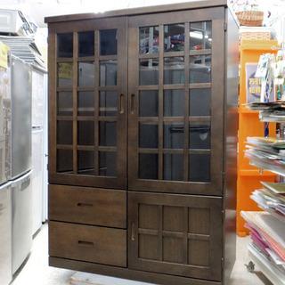 格子扉 収納キャビネット 食器棚 札幌市西区