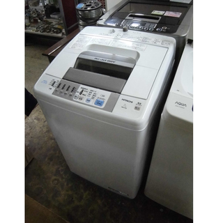 札幌 7kg 日立 全自動洗濯機 2015年製 ホワイト×…
