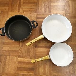 セラフィットフライパン +鍋3点セット