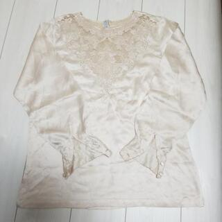 シルク 絹 100% ブラウス ベージュ