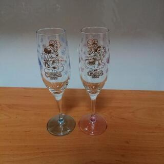 ミッキー&ミニーのグラス