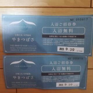 【宗像王丸・天然温泉やまつばさ】 入浴無料券2枚 ★9/30まで