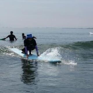 秋の、のんびり体験サーフィン