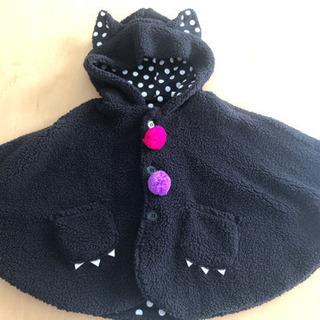 【ハロウィン】黒猫ポンチョ 80~90size