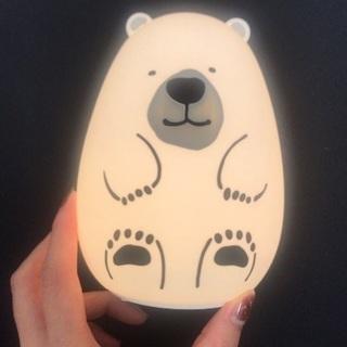 【新品未使用】タッチでつく熊ランプ