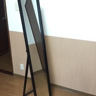 黒縁 全身鏡 500円
