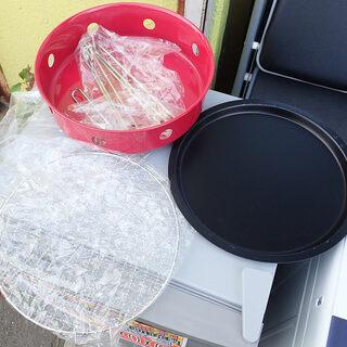 札幌市 直径31cm 焼き肉用 バーベキューセット 鉄板 網 未...