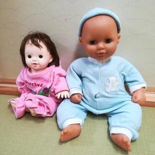 ポポちゃんとたぁくん人形セットです