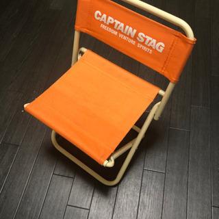 【無料】キャンプ 椅子 折りたたみ オレンジ