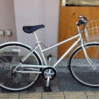 良品計画[無印良品]700c クロスバイク アルミ/外装6段/シルバー
