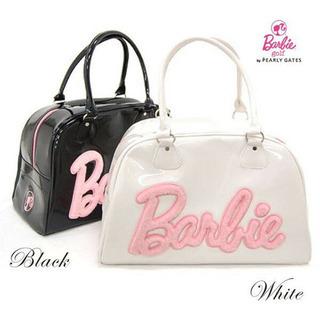 Barbie エナメルボストンバッグ(白)