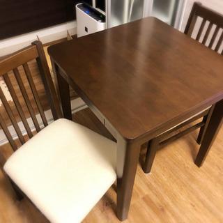 ダイニングテーブル 椅子2脚 あげます
