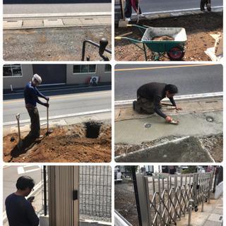 駐車場土間コンクリート♪ブロックフェンス工事致します 所沢市、狭...