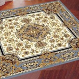 絨毯 新品 B級品 グレー ラグ ウイルトン織