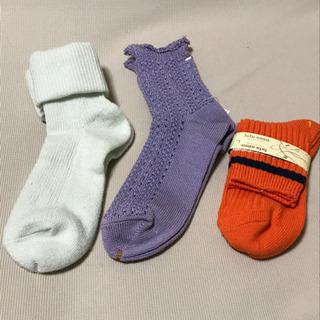 レディース 女性用  ソックス  靴下  冬物3足  未使用
