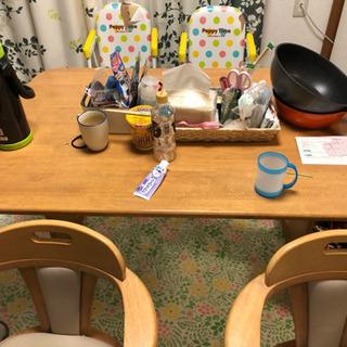 ダイニングテーブル 大人用椅子2脚 子供用椅子2脚