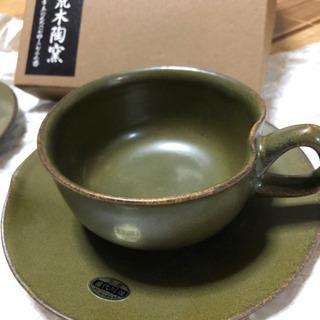 荒木陶窯 カップ&ソーサー 2セット - 鹿児島市