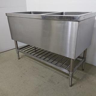 【中古】【業務用厨房機器】 二槽シンク