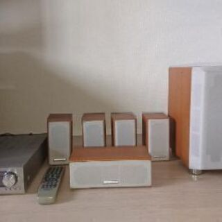DVDプレイヤー(pioneer)とKENWOOD KAFs500  アンプとスピーカー サブウーハー  デジタルケーブル(新品) 付 - 横浜市