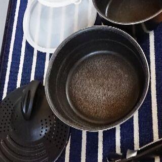 IHで使えない鍋のセット 取っ手のとれるティファール  7…