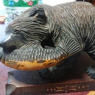 くまの木彫り