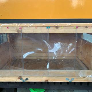 爬虫類 リクガメ等 木製 ゲージ