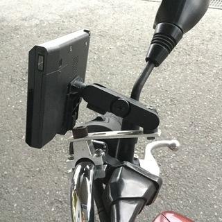 バイク用ゴリラシリーズナビ取付ステー
