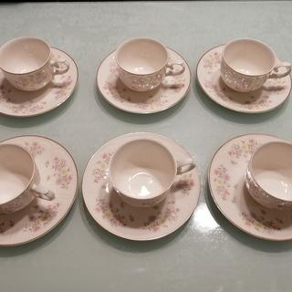 [未使用品]MARUI コーヒーカップ&ソーサ 花柄 来客用の画像