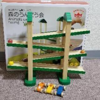 知育 木のおもちゃ 森のうんどう会 箱つき