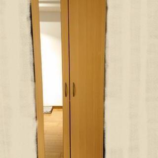 ワードローブ 鏡付 183×60×60