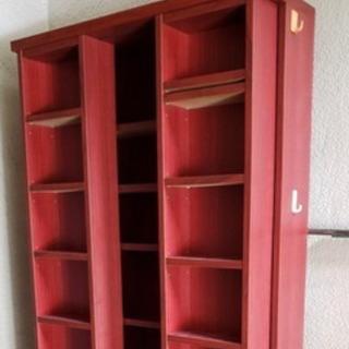 二段スライド式 本棚