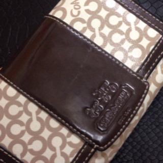 中古、coach、二つ折り財布