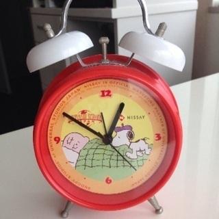 スヌーピー 目覚まし時計  置き時計