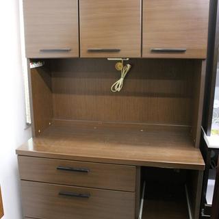 キッチンボード 食器棚 ブラウン