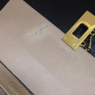 中古/chloe 長財布、ペンあと有り💦