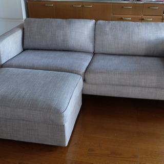 交渉中:IKEA ソファー  3人掛け +オットマン